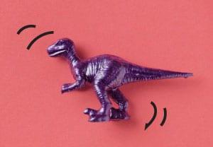 Enterprise solution - dinosaur on a dark red background