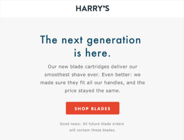 Email design review: harry's