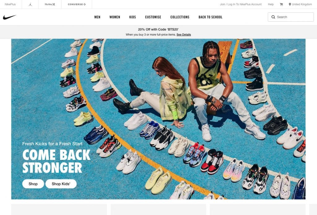 Email design review: nike