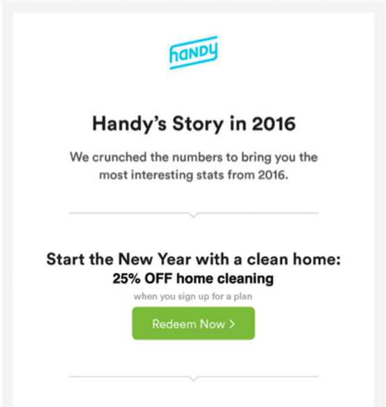 Email design review: handy