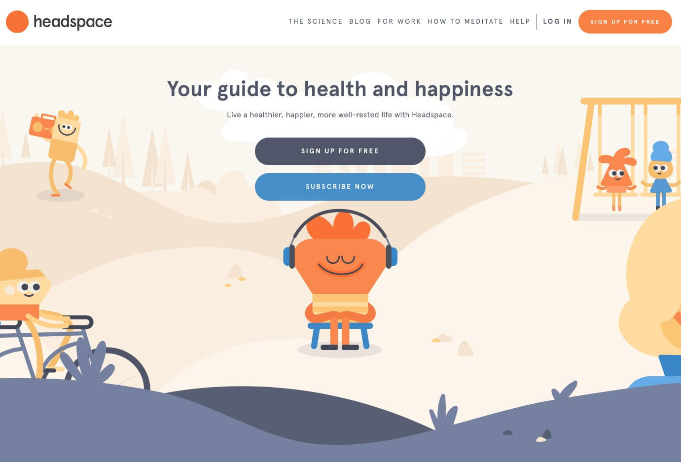 Email design review: headspace