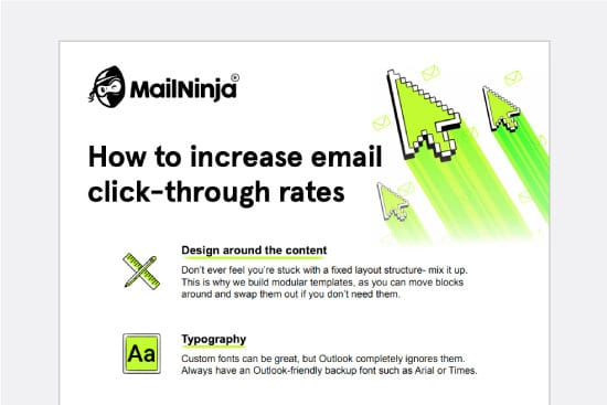 Email click rates infographic
