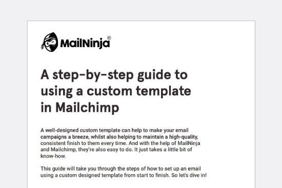 Custom Mailchimp template guide