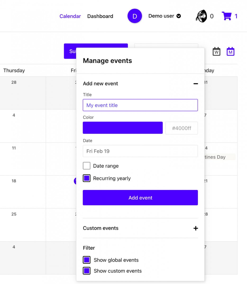 How do i plan upcoming promotional events