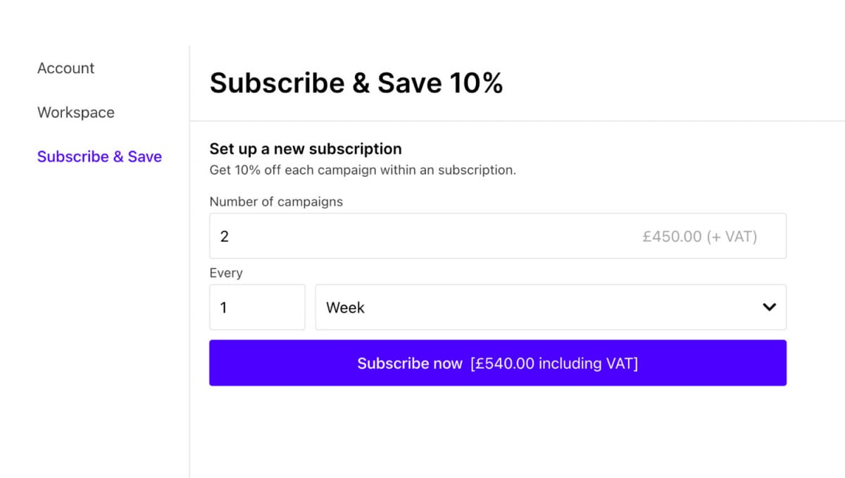 How does subscribe save work