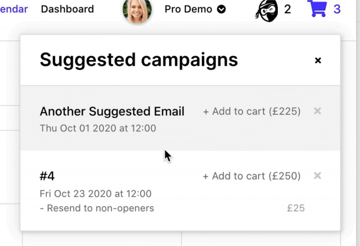 What are suggested campaigns and how do i view them