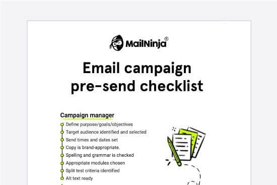 Email campaign pre-send checklist [pdf]