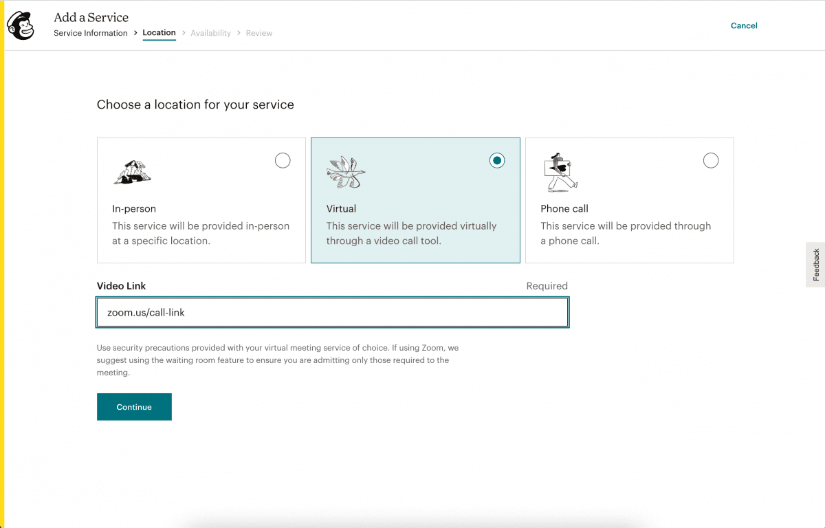 Mailchimp appointments – book calls and events right inside mailchimp
